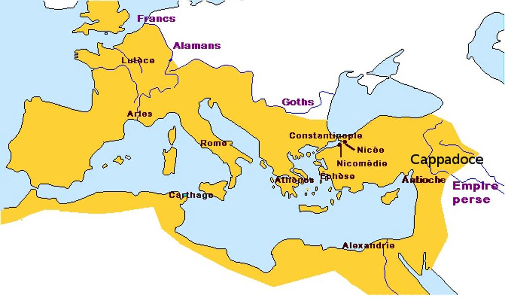 L'empire romain au quatrième siècle